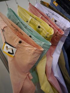 Pastel colored jeans!