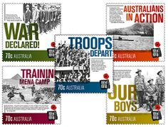 Australia commemorates World War I with stamps Check more at https://freestampmagazine.com/2014/04/26/australia-commemorates-world-war-stamps/
