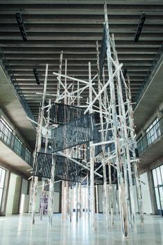 Phyllida Barlow, Cast, 2011, installation view at Kunstverein Nurnberg. Courtesy: Hauser & Wirth, London, New York and Zurich, and Kunstverein Nurnberg; photograph: Stephan Minx