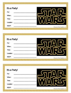 Star Wars Part Invite Terri Birthday Printables