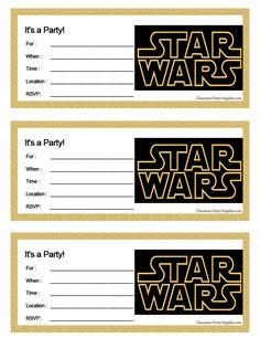 Star Wars Part Invite