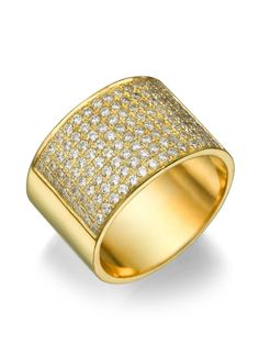 New to shireeodiz on Etsy: 14K yellow gold 0.96ct Diamonds Semi-Eternity Band Classic Estate 12.2mm  Flat Wedding Ring Christmas Gift Wide Band (1700.00 USD)