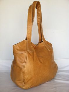 Rustic Camel Leather Tote Purse Shoulder Bag travel by Fgalaze, $110.00