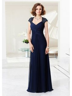 fa8918caa2 Long Navy Blue Chiffon Mother of The Bride Dresses 5603012 Halter Dresses