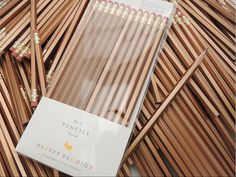 Gold Pencils Set of 12 Preppy School Supplies by PreppyProdigy