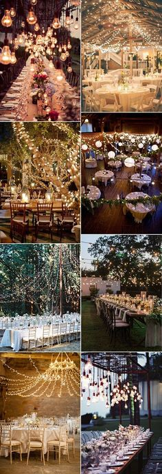 wedding reception table decoration ideas with lights for fall
