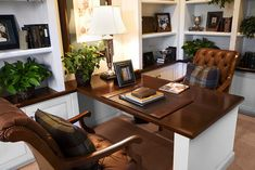 home office desk for 2 people | Two Sided Desk Design Ideas, Pictures, Remodel, and Decor