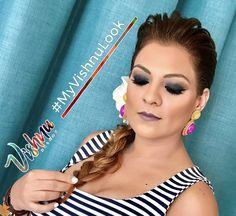 Maquillaje Resalta la luz que vive en ti... #myvishnulook #makeup  #hairstyle #braids #Om 🕉