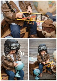 Vintage Aviator Little Pilot Baby Photography Idea Planes Birthday, Baby Boy 1st Birthday, Baby Boy Photos, Boy Pictures, Cute Babies Photography, Children Photography, Book Bebe, Boy Photo Shoot, Cute Baby Wallpaper