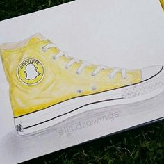 Snapchat [as a shoe] (Drawing by Ells.Drawings @Instagram) #SocialMedia