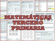 Ejercicios de matemáticas tercero primaria Repasamosla terceraevaluaciín de matemáticas tercero primaria , niños de 8-9 años.Repasaremos los Números,