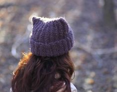 Super soft brown Baggy Knit slouchy beanie by ThingsFromShela