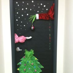 The grinch at work. This is what I made for a door contest at work.