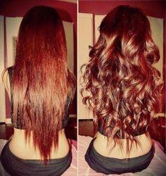 Layered V-Cut hair.