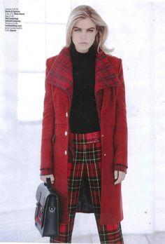 Look Magazine September 2013 Tartan Trousers Coverage