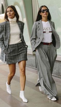 Check skirt two piece | gucci tee | autumn fashion | streetstyle | winter fashion | fall style | fashion inspo