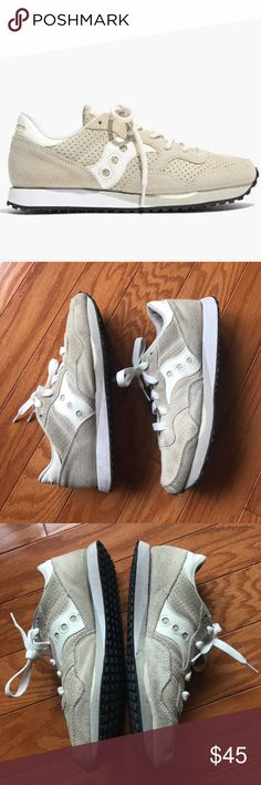Saucony traditional trainer sneaker shoe Gently worn but nothing a little suede cleaner can't fix! I have too many sneakers otherwise I wouldn't have to part with these Saucony Shoes Sneakers