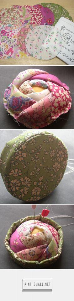 Japanese rose pincushion