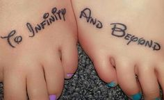 to infinity and beyond tattoo on feet, 20  Creative To Infinity And Beyond Tattoos, http://hative.com/creative-to-infinity-and-beyond-tattoos/,