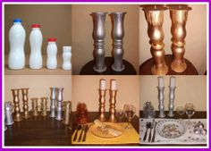 DIY Plastic Bottle Candle Holder