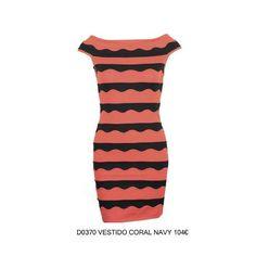 Vestido coral navy