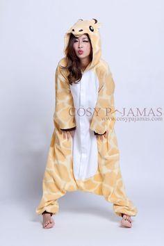 Animal Costume Giraffe Adult Onesie Kigurumi Pajamas - I really wish this thing had footsies!