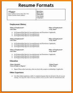 Home Design Idea different types resumes format cashier resume sample download