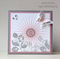 November Kinda Eclectic thank you card, using supplies from Stampin' Up! www.craftingandstamping.com #stampinup