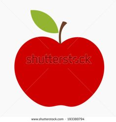 red apple icon vector illustration