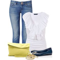 """""""Yellow Bag"""" by denise-schmeltzer on Polyvore"""