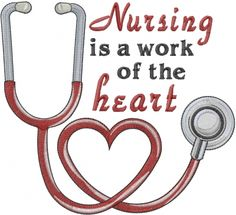 Embroidery Stitches Designs Text and Shapes Embroidery Design: Nursing Heart from Machine Embroidery Designs - Local Embroidery, Machine Embroidery Quilts, Learn Embroidery, Free Machine Embroidery Designs, Embroidery Applique, Embroidery Stitches, Simple Embroidery, Embroidery Jewelry, Embroidery Ideas