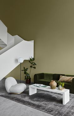 Jotun Lady just came out with their new color chart for 2020 and it makes me want to paint all the surfaces in my apartment in those subtile, yet deep tints. I'm really falling for that Local green wall color … Continue reading → Living Room Colors, My Living Room, Living Room Decor, Bohemian Decoration, Color Terracota, Jotun Lady, Green Wall Color, Green Colors, Art Deco