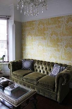 Olive Green color trend 2015 - Apartment Sofa Forrest Glover Design - Interior Design Blog San Francisco, Marin, Sonoma, East Bay