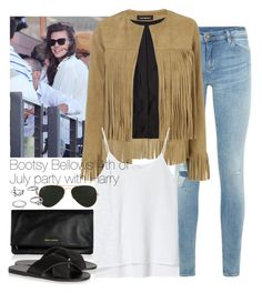 """""""Bootsy Bellows 4th of July party with Harry"""" by wkus ❤ liked on Polyvore featuring Denim & Supply by Ralph Lauren, ThePerfext, Zara, Yves Saint Laurent, Ancient Greek Sandals, Ray-Ban, OneDirection and harrystyles"""