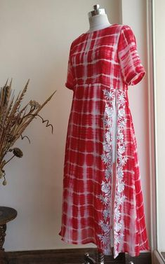 Red Shibori Tunic by Label Kanupriya   www.labelkanupriya.com   WhatsApp 9694496961