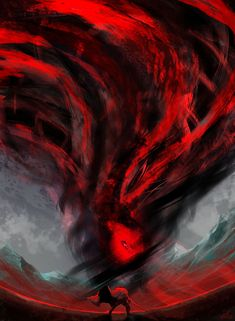 Harrowstorms are coming to the Dark Heart of Skyrim. Experimental paint without using a reference. Skyrim, The Darkest, Scary, Cow, Deviantart, Fantasy, Abstract, Artwork, Painting