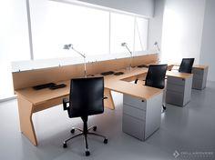 Офисный угловой стол с перегородкой