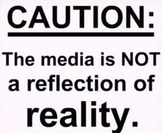 CAUTION: The media is Not a reflection of reality. Turn off mainstream news--at least for a while. Then go back and see with clarity. Bernie Sanders, Out Of Touch, Frases Tumblr, Mainstream Media, Thats The Way, Twitter, In This World, Wise Words, Just In Case