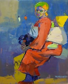 ideas south african children mother and child for 2019 Painting People, Artist Painting, Figure Painting, Zimbabwe, Famous Black Artists, African Children, South African Artists, Kids Poster, African American Art