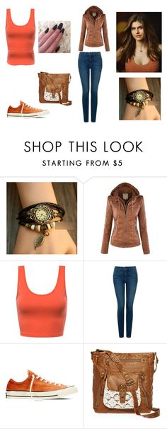 """""""Moonshine Outfit 2"""" by taylor-ross115 on Polyvore featuring InShop Watches, NYDJ, Converse and T-shirt & Jeans"""