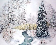 """December 2014: Christmas Morning by David Desjardins. """"I am so honored to participate in my second Art Showcase, and I am humbled to be in the company of so many talented artists. I used to paint only for my own enjoyment, but now when I hear how others enjoy my work it really makes my day!"""". Please visit our website to view more of this artists work and send an Ecard! www.MyMSAA.org"""