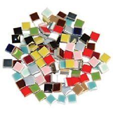 100 tiles - 3/8 inch Mixed Colors Ceramic Mosaic Tiles , DTI