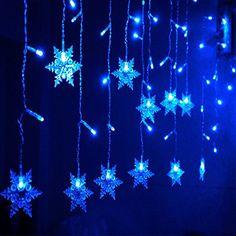 Bellabrunnen 2.5m Breit 169er LED Lichterkette Stern Vorhang Licht ...