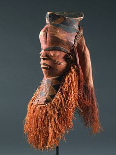 PENDE MASK DR Congo. H 41 cm (without raffia).  Provenance: Estate R. Rinderknecht (Zurich), 1938 purchased in situ.