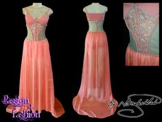 072 993 1832 - Matric Farewell Dresses / Matric Dance Dresses - Marisela Veludo - Fashion Designer - Passion4Fashion by Marisela Veludo Coral matric dance dress, with sheer tummy and sheer flowy gathered skirt. With a train. Worn with hot pants. Lace and diamante detail. #mariselaveludo #matricdance #passion4fashion #matricdress #fashion #coraldress