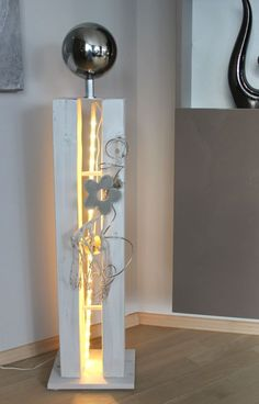 – Large decorative pillar for inside and outside! Large split wooden pillar … - Decorations for Home Decorative Pillars, Wooden Columns, Christmas Is Coming, Sculpture Art, Sconces, Wall Lights, Christmas Decorations, Lighting, Modern