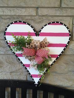 Image result for wood heart door hanger