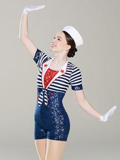 Sea Cruise - Revolution Dancewear - US Dance Recital, Dance Moms, Tap Dance, Dance Wear, Sailor Fancy Dress, Revolution Costumes, Dance Nation, Navy Costume, Dance Costumes Tap