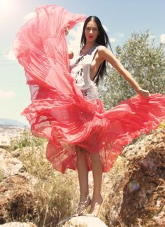 Shop this look on Kaleidoscope (top, skirt)  http://kalei.do/W7uTDHeIfb9nvnR5
