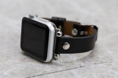Leather Apple Watch Bands, iPhone and Samsung Cases!❤ by ParagonLeathers Black Apple Watch Band, Apple Watch Bands, Apple Watch Series, Best Gift For Girlfriend, Leather Gifts, Samsung Cases, Black Silver, Watches, Accessories